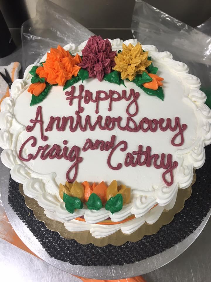 Fall Anniversary Cake
