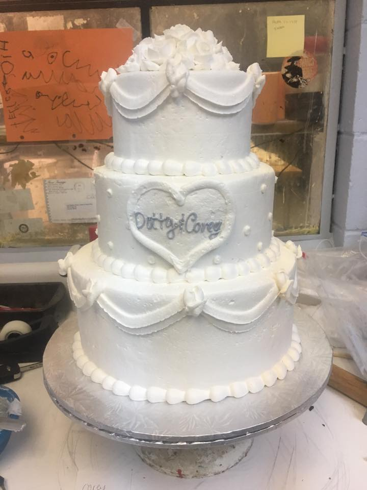 Traditional Buttercream 3 Tiered Cake