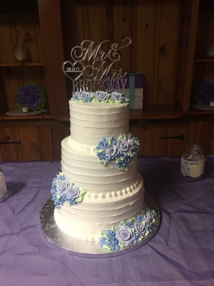 Traditional Buttercream 3 Tier Cake with Buttercream Roses